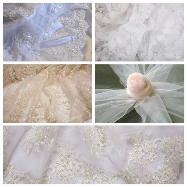 bridal fabric collage