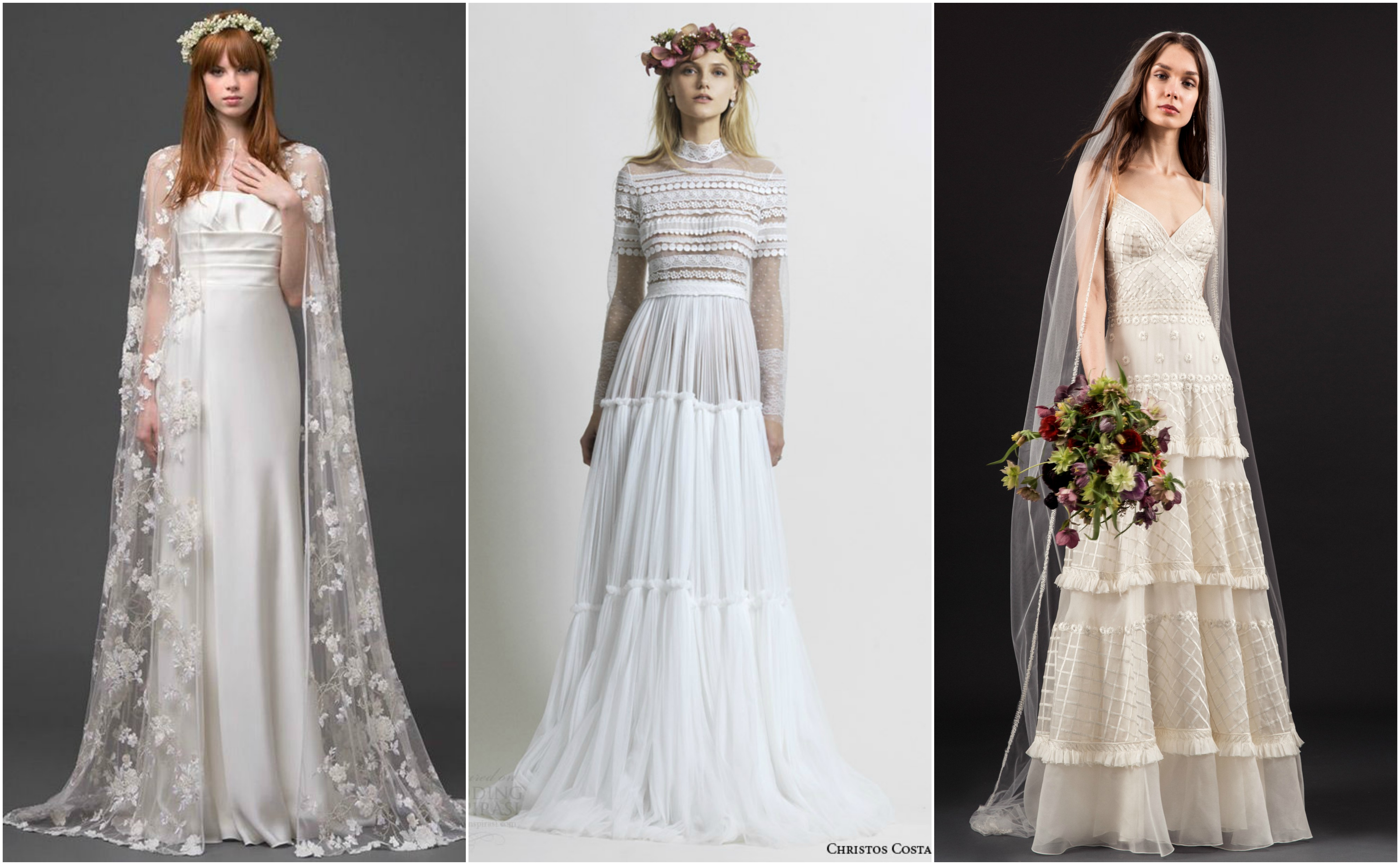 bridal gowns with capes
