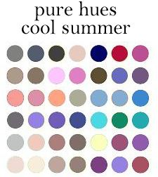 Cool Summer Colour Board